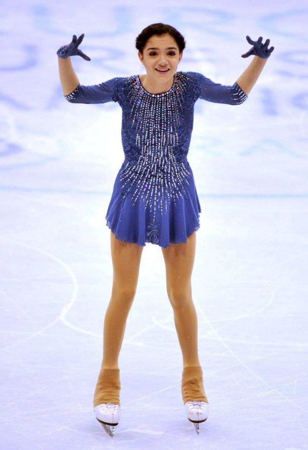 ロシアの新星エフゲニア・メドベデワ。多くの人達から期待が集まってるけど将来性もかなり見込まれているみたいだ