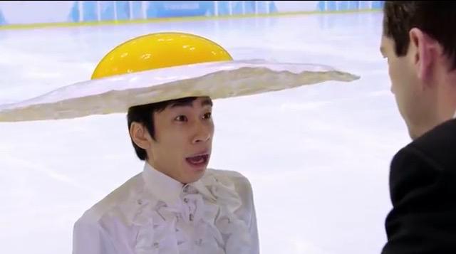織田信成がテレビCMで氷上の目玉焼きに変身。出来は「120点」と自信満々