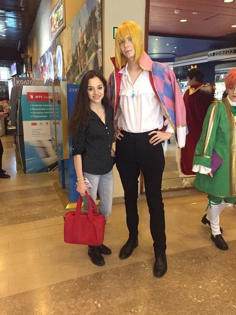 ジブリ好きで有名なエフゲニア・メドベデワがアニメのコスプレイベントに足を運ぶ