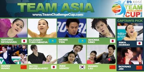 チームチャレンジカップ2016の出場選手が正式に決定。チームアジア投票枠は女子本郷理華 ・男子はボーヤンジン