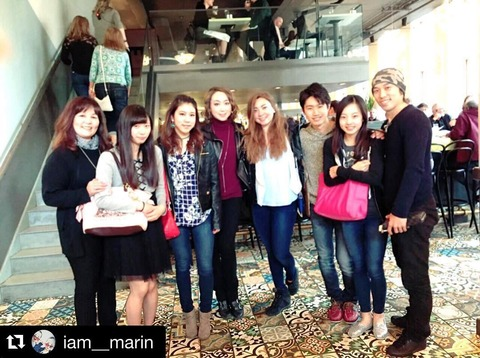 本田真凜がアメリカで振り付けの練習を行い一緒に行ったメンバーと仲良く集合写真