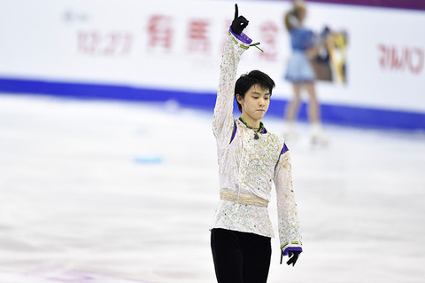 中国のCCTVの特番で羽生結弦が最優秀外国人選手に選ばれ本日テレビ放送されるとの事
