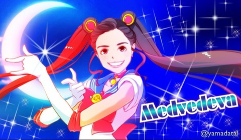 エフゲニア・メドベデワがロシアの番組でまたセーラームーンを歌ってる(笑)