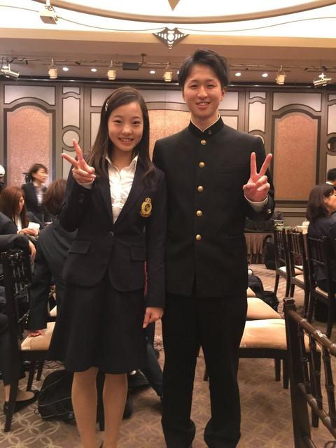 男の子が澤穂希と本田真凜に写真を頼んだ結果・・・距離感が何とも言えない正直者