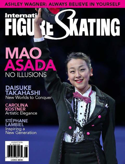 アメリカのフィギュアスケート雑誌インターナショナル・フィギュアスケーティングの表紙に浅田真央選手が掲載される