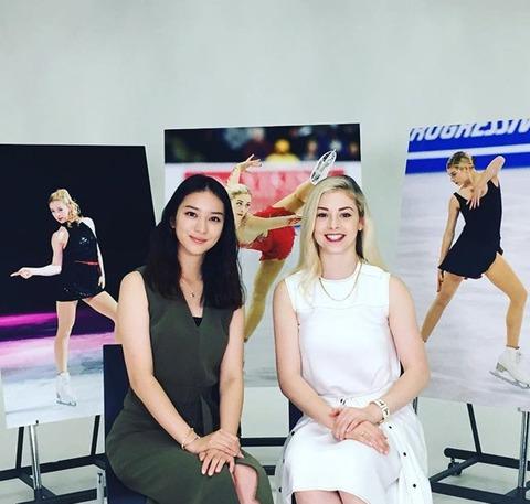主演の武井咲とツーショット写真を公開。フィギュア全米女王ゴールド女優デビュー「心を表現 楽しかった」