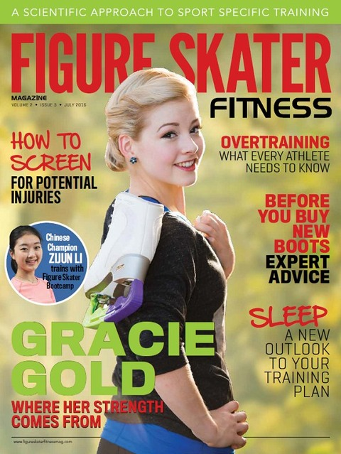 グレイシー・ゴールドがフィギュアスケート雑誌の表紙を飾る。ラヴオンザ・フロアダンスにも足を運んだみたいだ