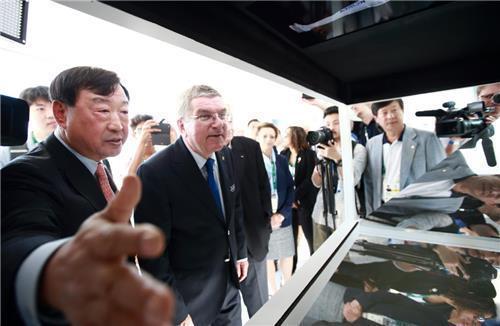 IOCバッハ会長がリオの平昌五輪広報館を訪問。フィギュア会場の完成イメージ図はとても綺麗