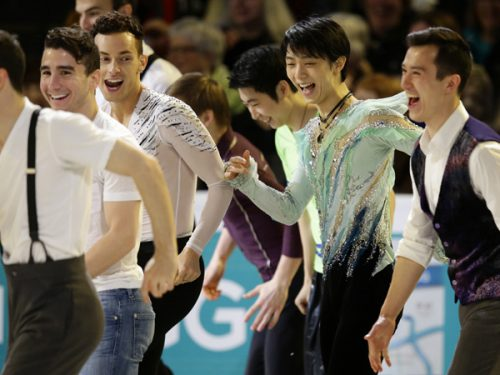 ‰H¶Œ‹Œ·/Yuzuru Hanyu (JPN),  APRIL 3, 2016 - Figure Skating : Yuzuru Hanyu of Japan skates in the Exhibition during the ISU World Figure Skating Championships 2016 at TD Garden on April 3, 2016 in Boston, Massachusetts, USA.  (Photo by AFLO)