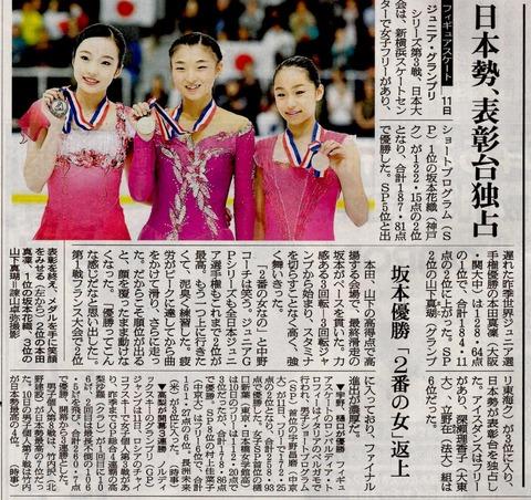 メディア報道続々。本田真凜がジュニア女子フリーで最高点を出し「自分自信が成長した」と笑顔で語った
