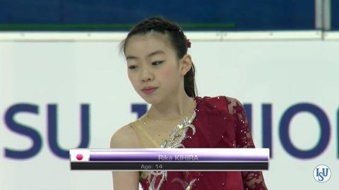 JGPスロベニア2016。女子SPで紀平梨花が暫定1位。本田真凜が暫定3位まで順位を落とす