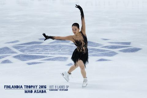 浅田真央の今季初戦。フィンランディア杯SPのリチュアル・ダンスを無事披露し本人も納得の演技。フリーで逆転優勝を目指す