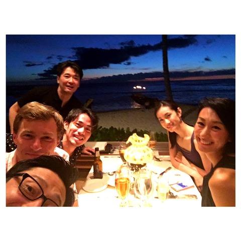 浅田舞がハワイに到着。荒川静香・高橋大輔らと合流し素敵な写真を公開