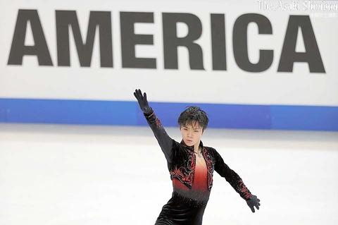 スケートアメリカ2016。SP首位の宇野昌磨がフリーの公式練習で最終調整・・・4回転トウループはきれいに着氷