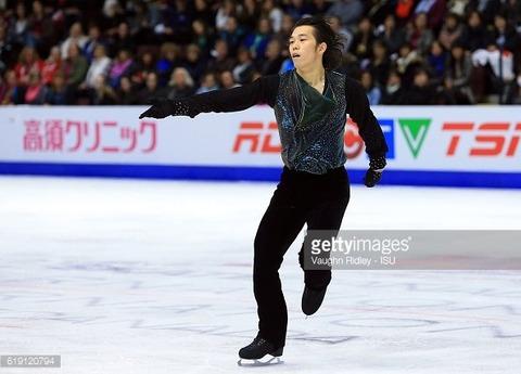 スケートカナダ2016。SPで堅調な演技を魅せた無良崇人選手。フリーでは足を捻挫してしまい思うような演技が出来なかったとの事