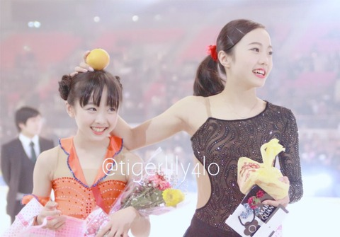 PIW熊本2017。本田真凜と望結が姉妹共演。色白美人で観客を魅了