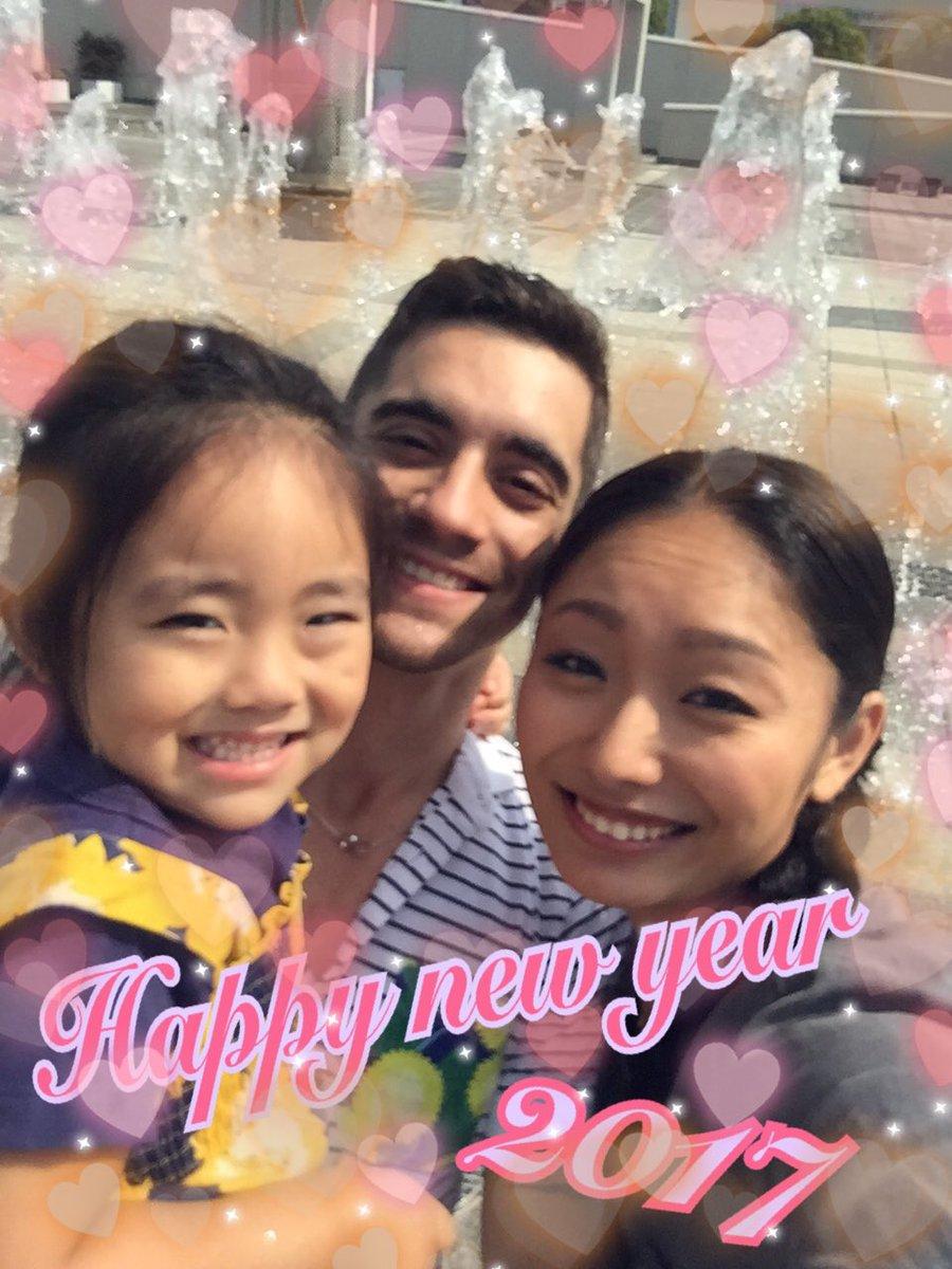 安藤美姫が娘さんと恋人のハビエルフェルナンデスとの3ショット写真を公開し新年のご挨拶