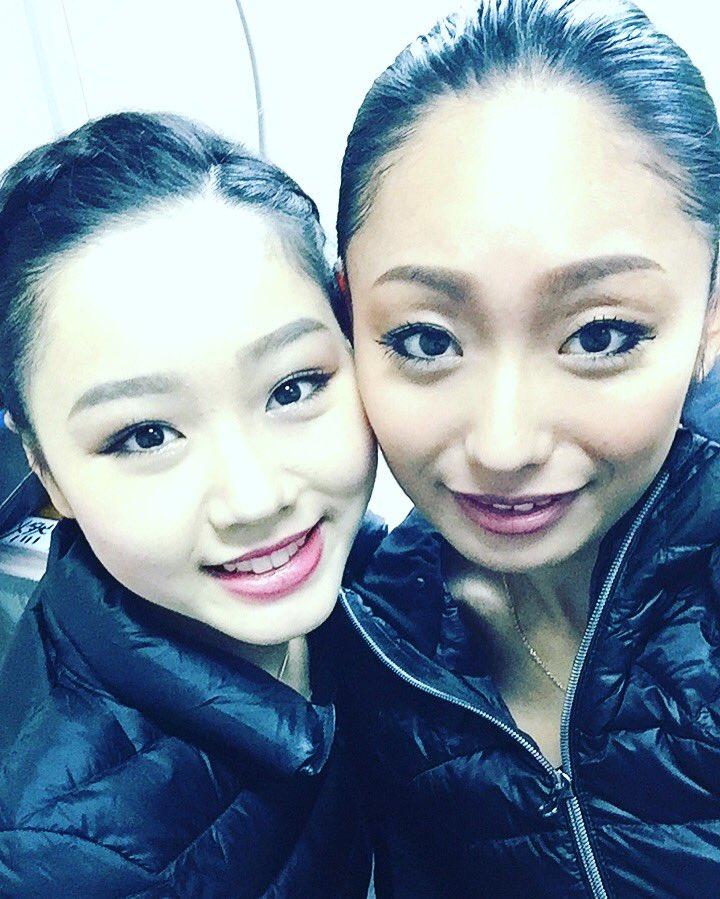 安藤美姫と樋口新葉がツーショット写真を公開。二人が並ぶと姉妹みたいだ