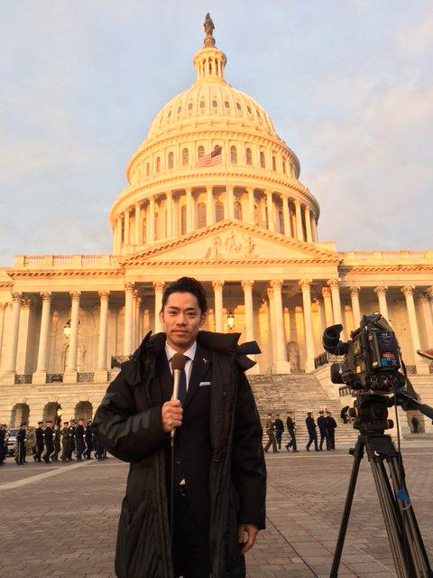 高橋大輔がNEWS ZEROの取材でアメリカへ。トランプ大統領就任式を取材したのかな?