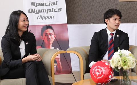 安藤美姫と小塚崇彦が有森裕子理事長とドリームサポーター対談。