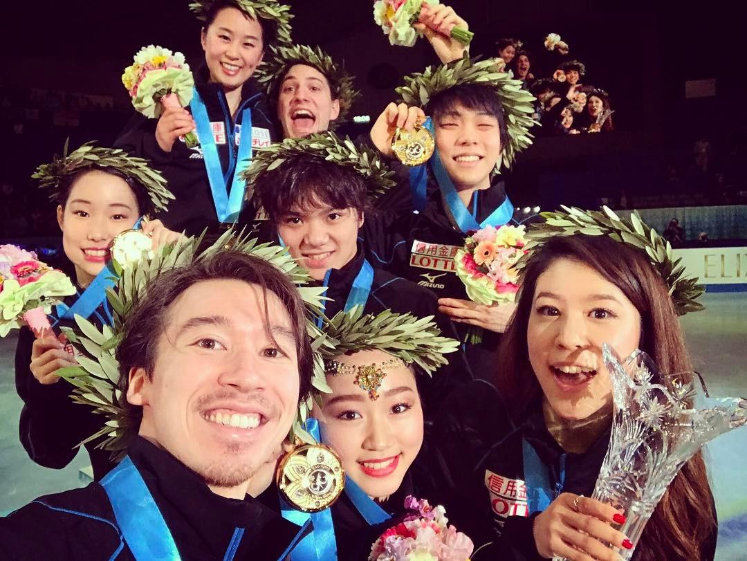 世界国別対抗戦2017の総合得点が発表され宇野昌磨選手が唯一300点越え