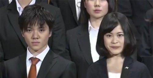 宇野昌磨と宮原知子が並ぶと新入社員みたいで可愛くて初々しい