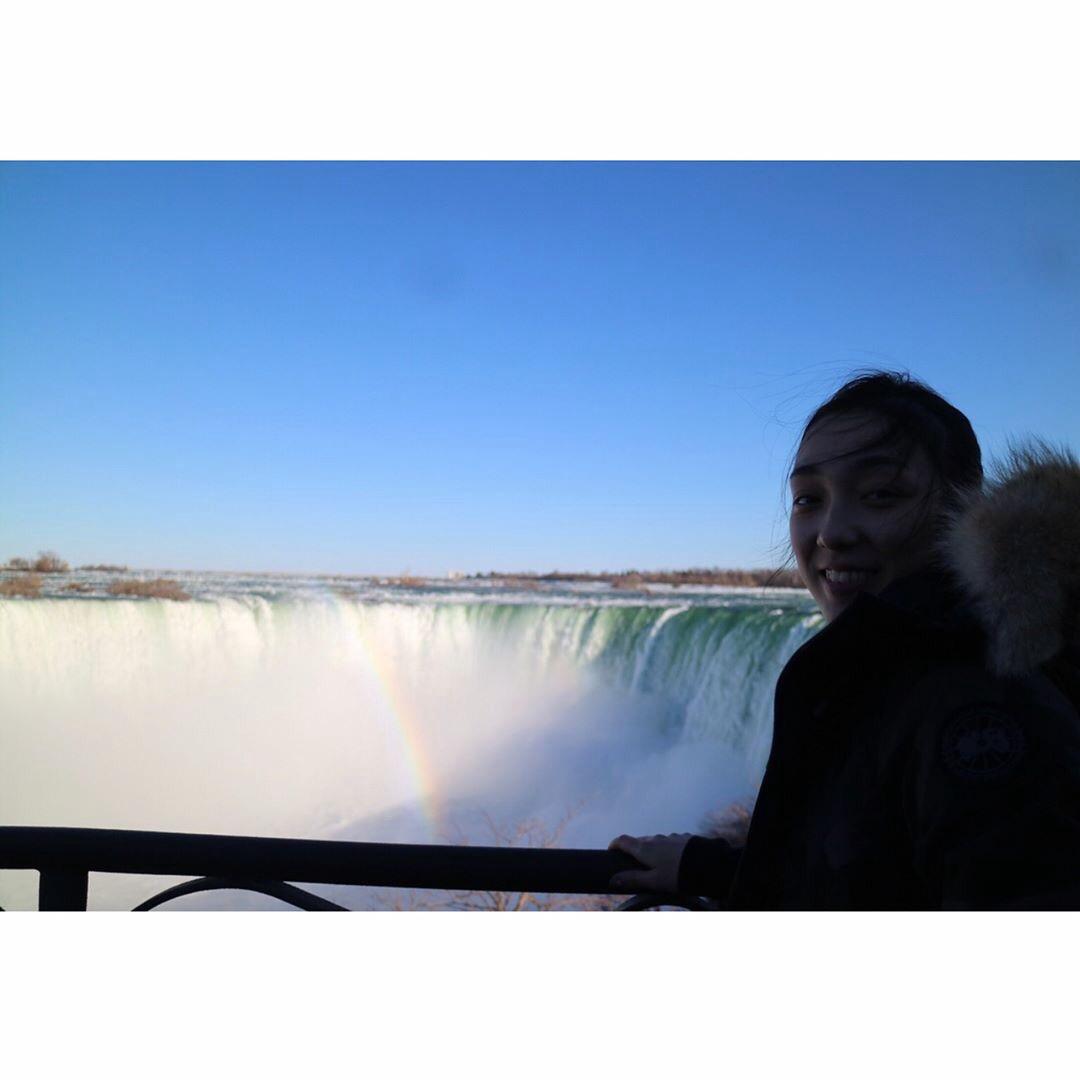 本郷理華選手がナイアガラの滝を観光しリフレッシュ。