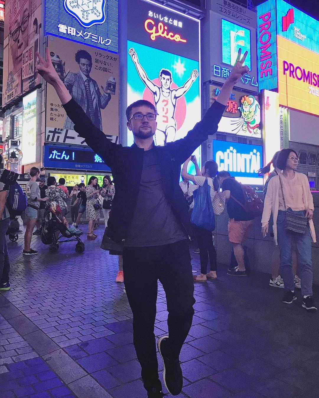 ミーシャ・ジー選手が来日し大阪に参上。ジュニア選手の振り付けを行ったみたいだ
