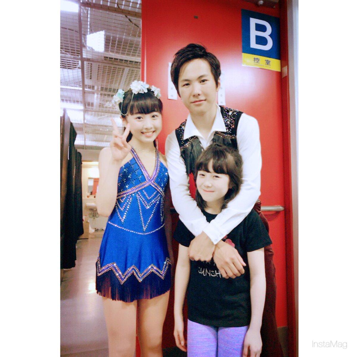 プリンスアイスワールド横浜公演に出演した本田3兄妹が仲良くスリーショットで感謝のコメント