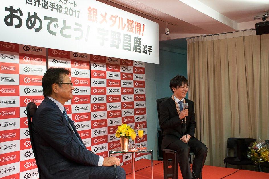 宇野昌磨選手がアドバイザリー契約をしているコラントッテ本社に足を運び感謝の意を表わす