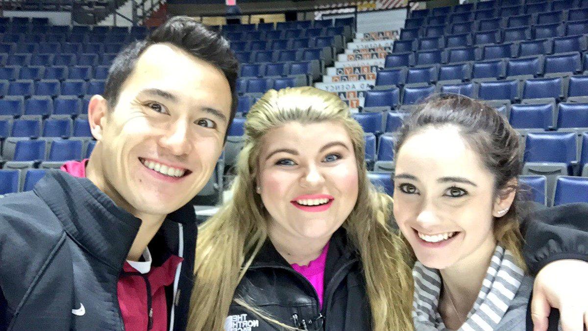 パトリック・チャンが地元カナダのテレビ番組に出演しぽっちゃりな女性リポーターに対してスケートレッスン