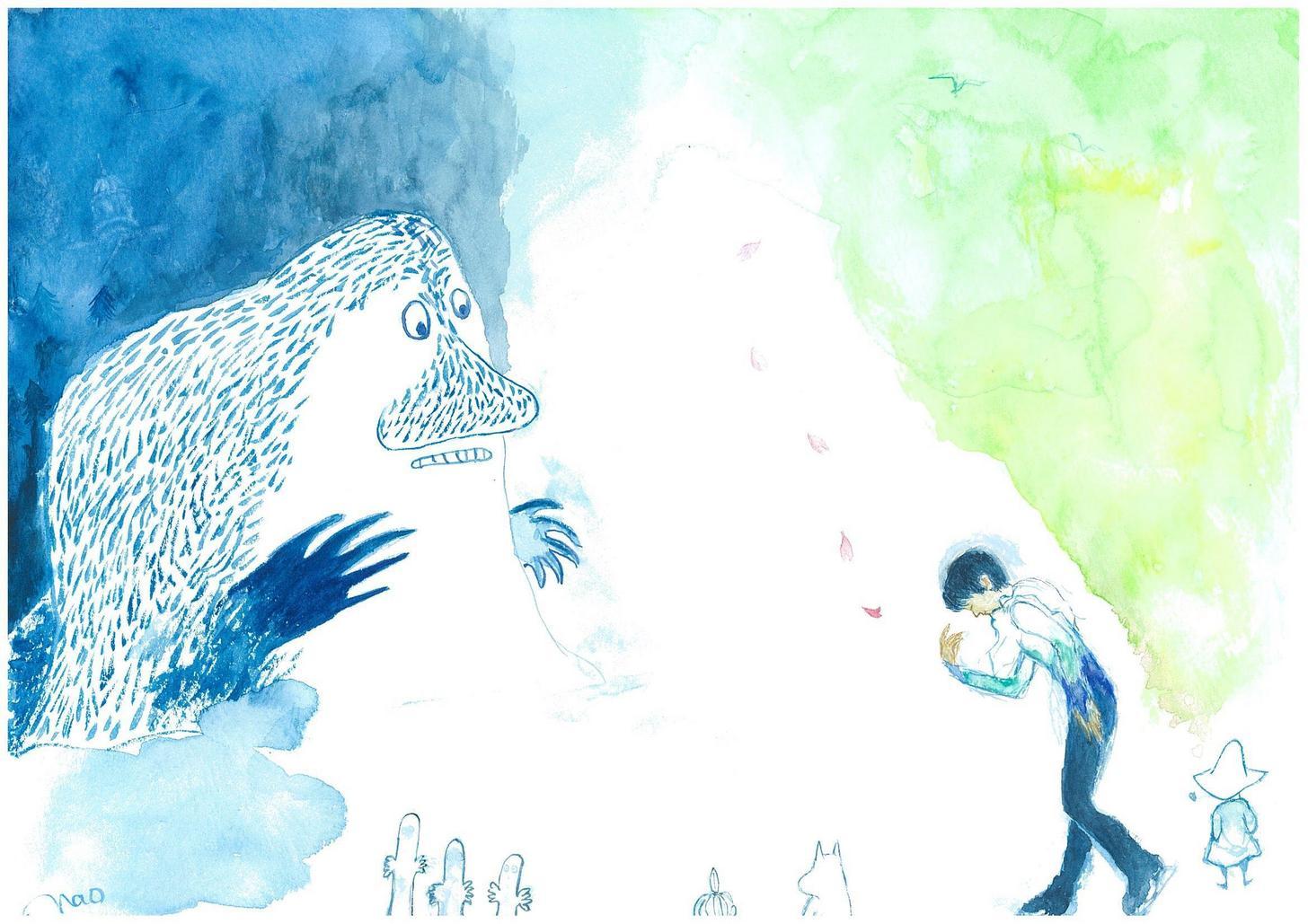 フィンランド大使館主催のイラストコンテストで羽生結弦選手をモデルに描かれた「君は春を連れてきたんだね!」が審査員特別賞を受賞