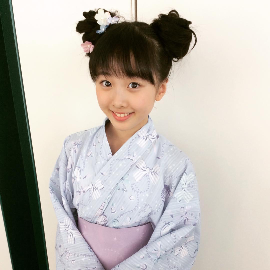 本田望結ちゃんが可愛い浴衣姿を披露。ミッキーマウスの髪型で可愛さ倍増