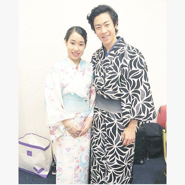 ネイサン・チェンと三原舞依の艶やかな着物姿でツーショット写真を公開