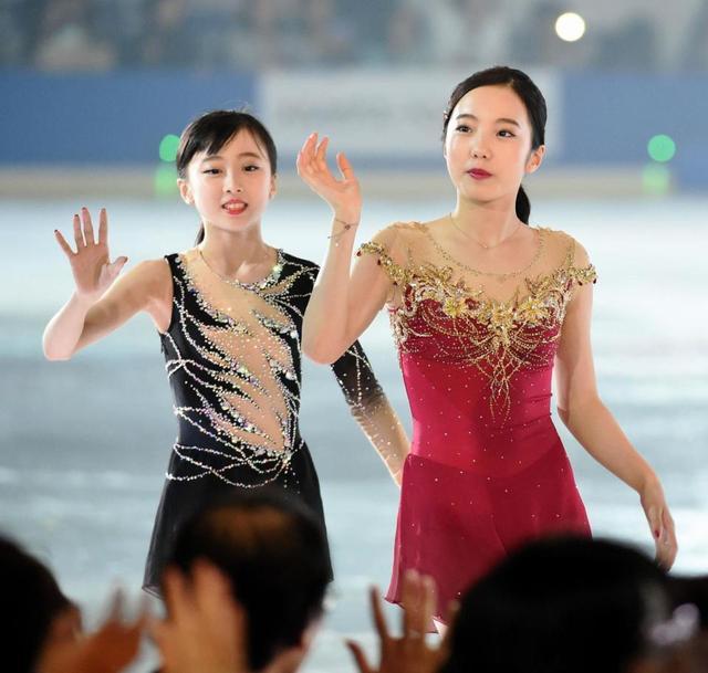 プリンスアイスワールド2017東京公演。本田真凜と望結が仲良く姉妹出演。望結も3回転ジャンプ決める