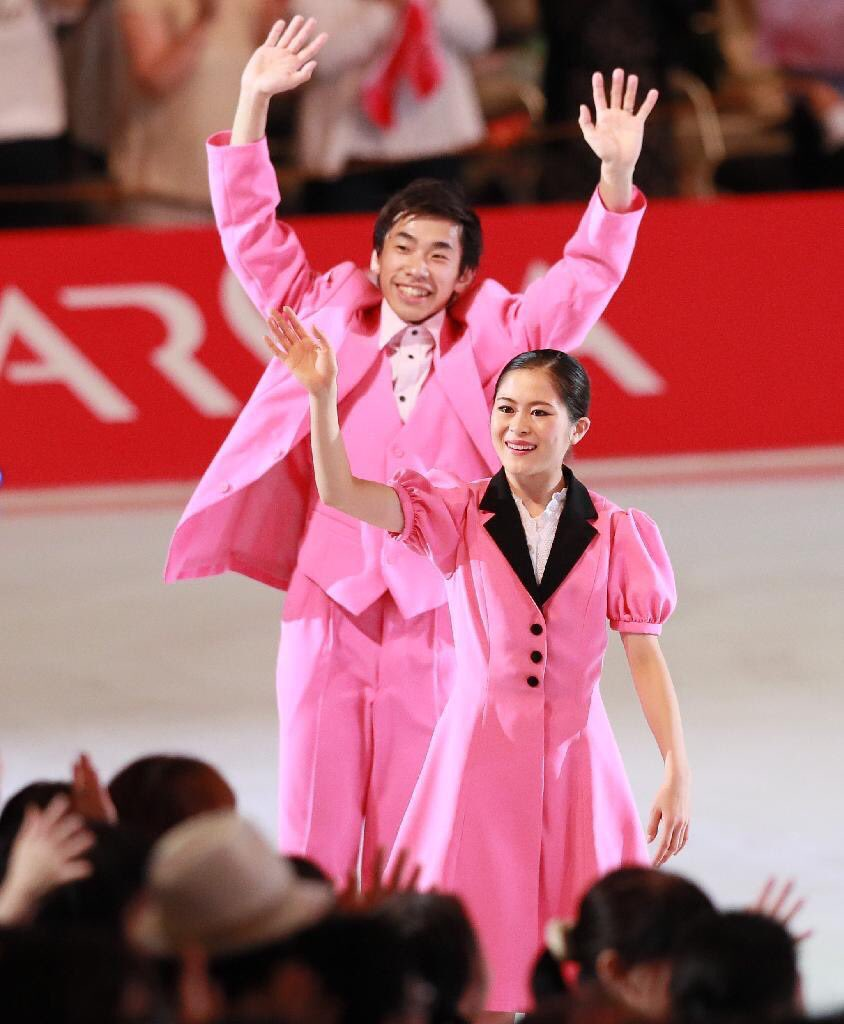 ザ・アイス2017で宮原知子が浅田真央との共演に「楽しく滑れた。偉大なスケーターの一員になれてうれしい」と笑顔を見せる