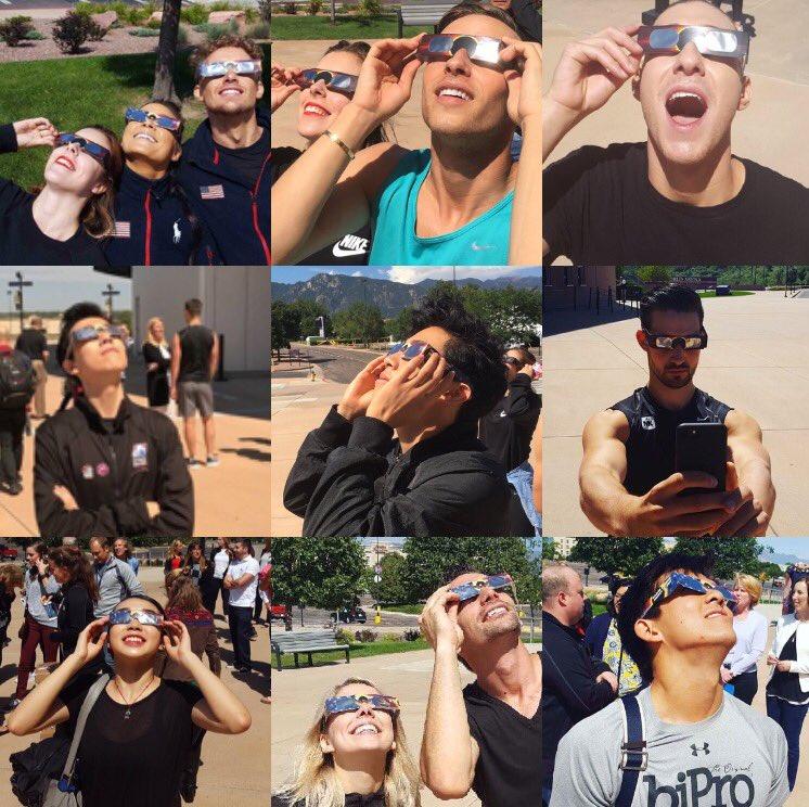 皆既日食が米大陸横断。ネイサン・チェンらアメリカチーム代表らも観測を楽しむ