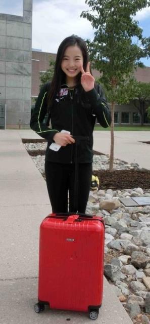シニア初戦USインターナショナルに挑む本田真凜が練習リンクで調整「メインはめっちゃ好きな氷」