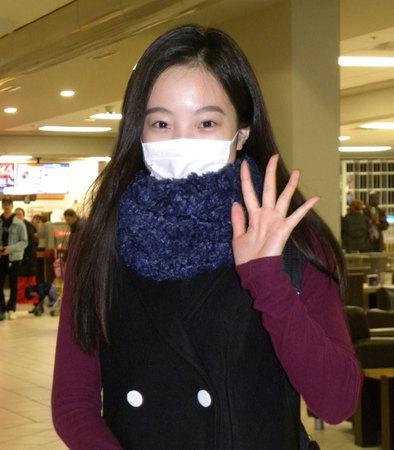 本田真凜「頑張ってきます」GP開催地の北京に出発
