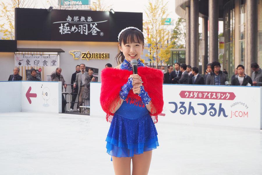 本田望結が梅田のリンクで華麗に初滑り。目標は「オリンピックが夢ですと言える選手になること」