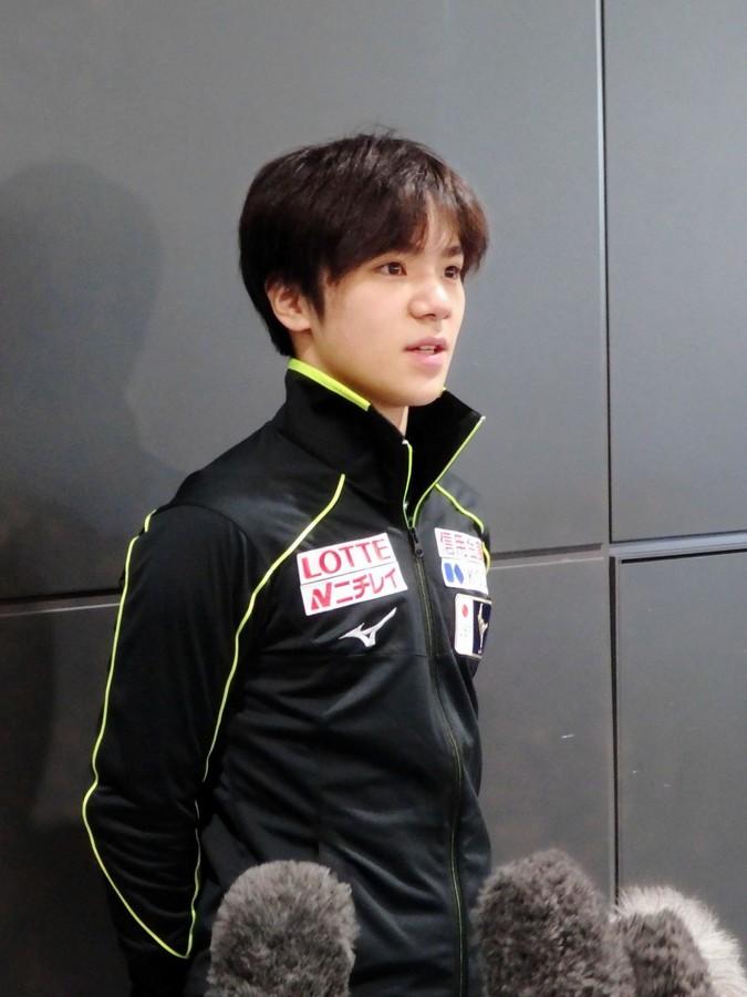 宇野昌磨が帰国。第一声で「帰って早く練習したい」