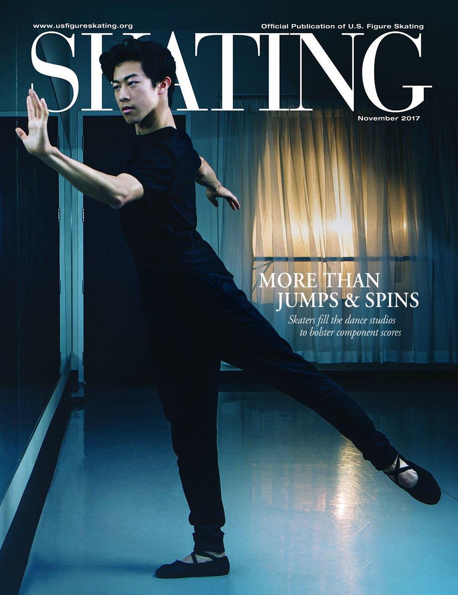 ネイサン・チェンが雑誌Skating11月号の表紙を飾る