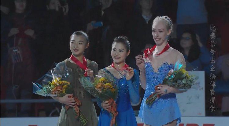 スケートアメリカ大会2017。女子FS宮原知子が優勝。坂本花織は2位。樋口新葉のGPファイナル進出が決定