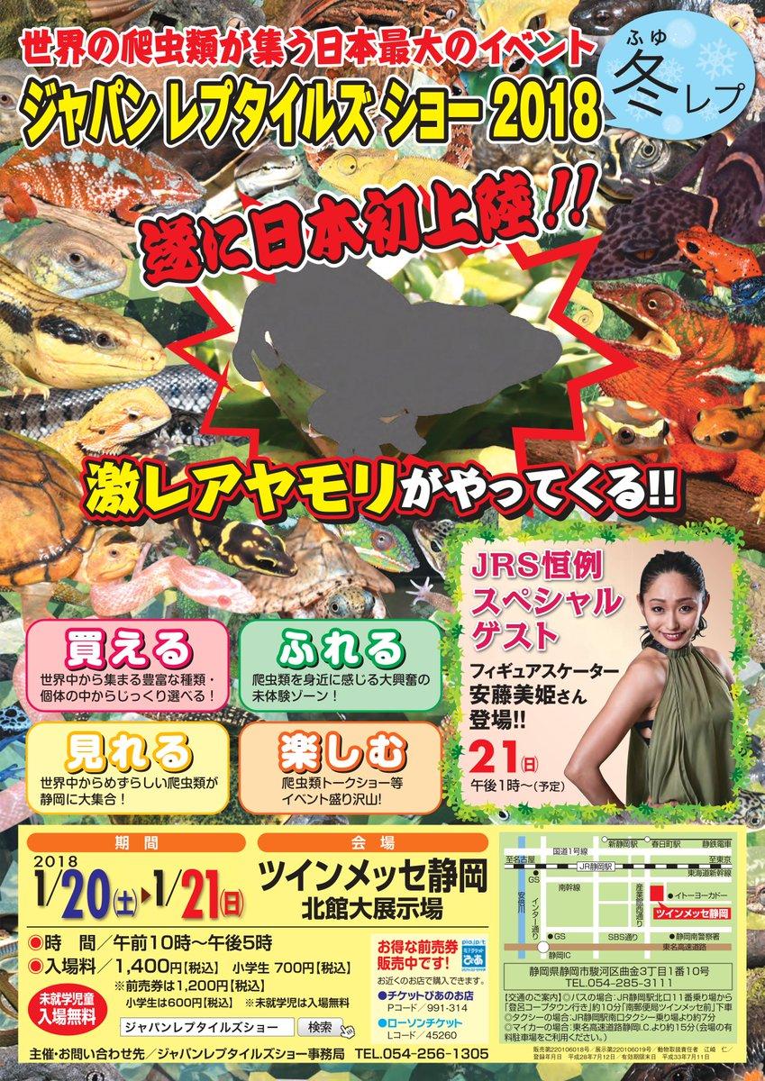 安藤美姫が来年1月に開催される世界の爬虫類が集う日本最大のイベントにゲスト出演する事が決定