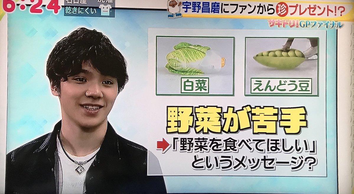 フランス杯の演技後に宇野昌磨選手への応援でリンクに投げ込まれた野菜クッションの謎が解明?