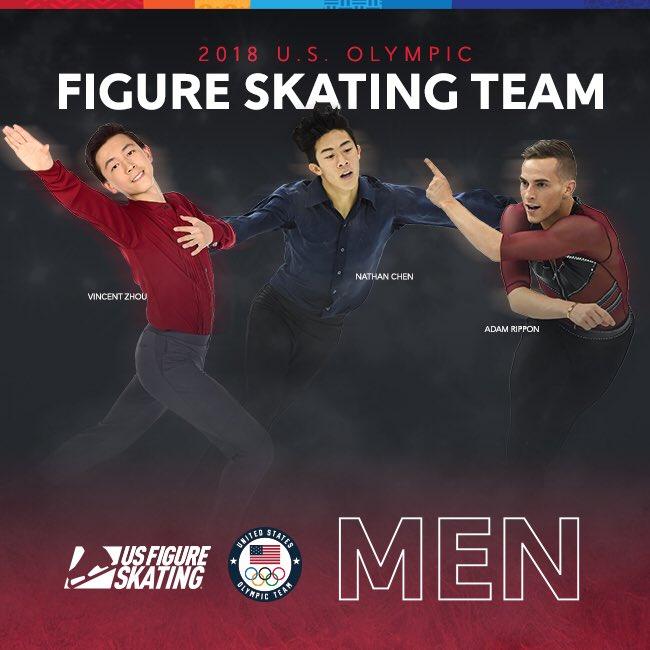 平昌五輪に出場するアメリカ男子代表が決定!ネイサン・チェンにヴィンセント・ジョウ、アダム・リッポンの3人