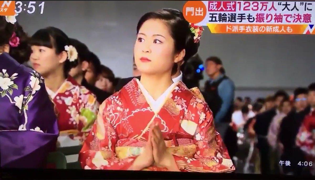 成人式に出席した宮原知子選手がお人形さんみたいで可愛いと話題に