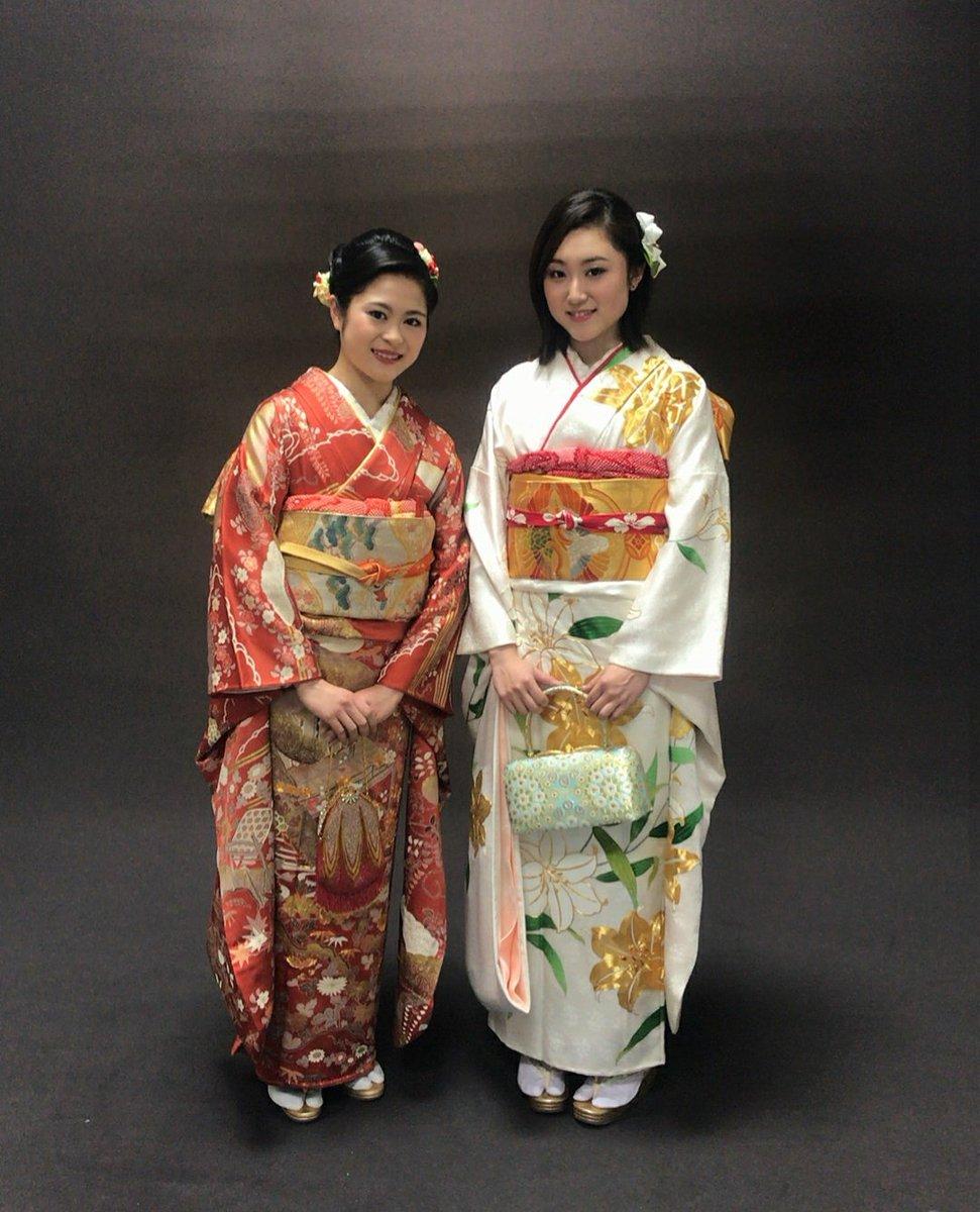 木原万莉子選手がインスタグラムに宮原知子選手とのツーショット紅白着物姿を公開
