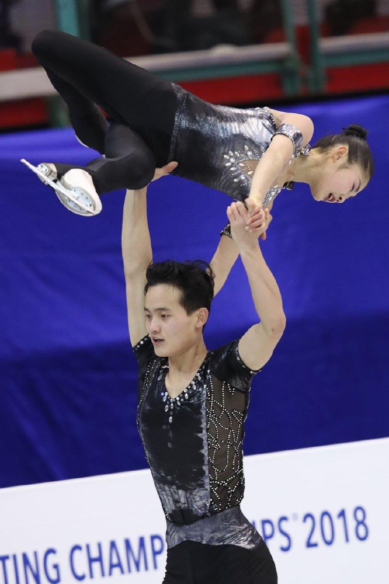 4大陸選手権 北朝鮮ペア「努力を続けたい」