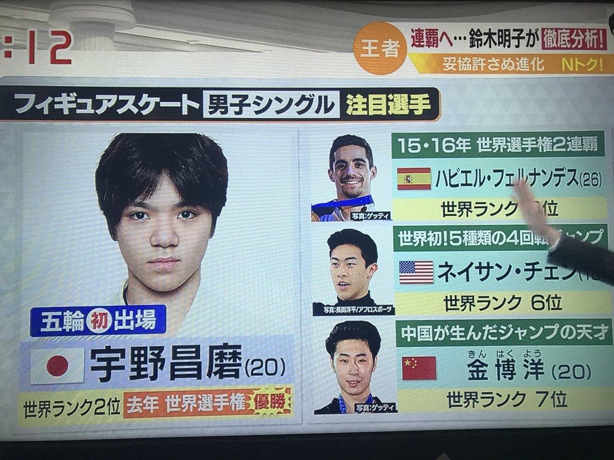 Nスタ 羽生結弦は金取れる!宇野昌磨も注目選手! Wメダル! Nスタ側の大きなミスで物議も。